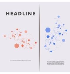 Modern Hexagon Design background vector image