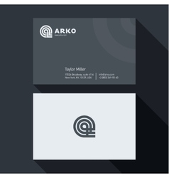 Qualitative elegant Business Card abstract vector image