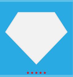 Superhero template icon different color vector