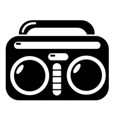vintage boombox icon simple style vector image