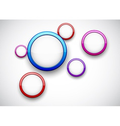 Colorful background with glossy circles vector image vector image