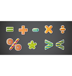 Math signs vector image vector image
