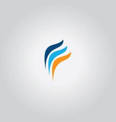 Swirl finance logo vector
