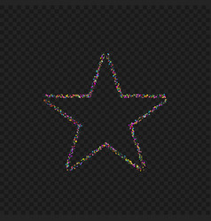 colorful dotted star shape vector image