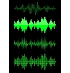Sound equalizer graphic set vector image