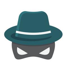 Spy flat icon incognito and agent vector