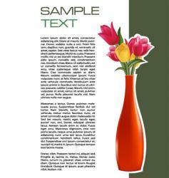 vase brochure vector image