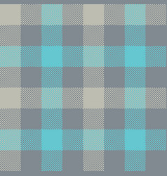 blue gray check plaid seamless pattern vector image