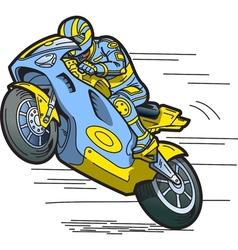 Speeding Motorcycle vector image