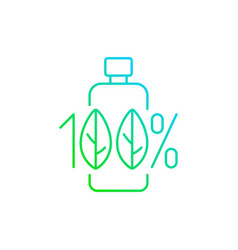 100 percent natural gradient linear icon vector