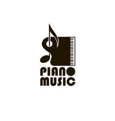 Abstract piano image vector