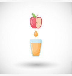 apple juice flat icon vector image