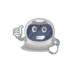 Astronaut helmet cartoon design making ok gesture vector