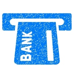 Banking ATM Grainy Texture Icon vector