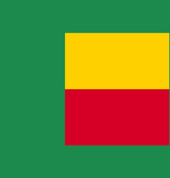 Benin country flat style flag vector