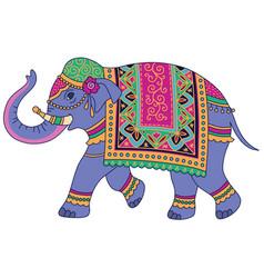 blue indian elephant vector image