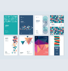 Brochure business plan annual report designs vector