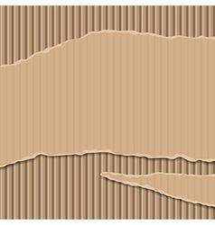Cardboard corrugated banner vector