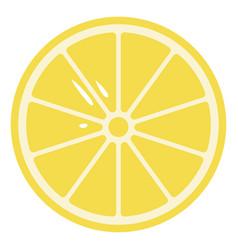 Cartoon sliced yellow lemon or color vector