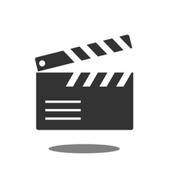 cinema clapperboard icon flat style design vector image