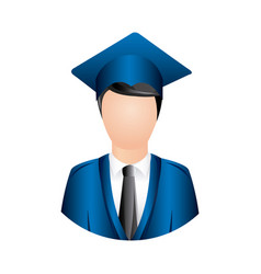 color man graduation icon vector image