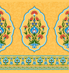 Colorful ornamental pattern in eastern style vector