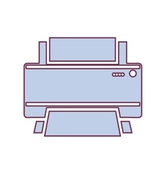 Contour home printer in light purple color vector
