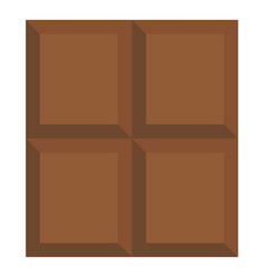 Dark milk chocolate bar icon isolated vector