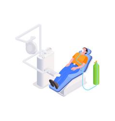 Dental treatment icon vector