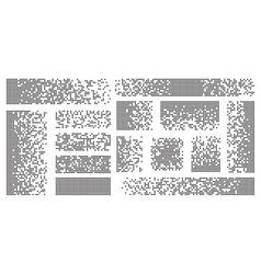 Dispersed background disintegration pixel effect vector