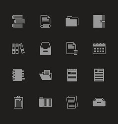 Documents - flat icons vector