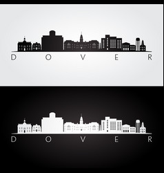 dover usa skyline and landmarks silhouette vector image