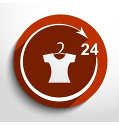 dress shop 24 hours service vector image