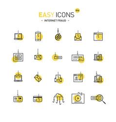 Easy icons 51d internet fraud vector