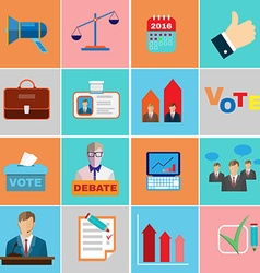 Elections Campaign Icons vector