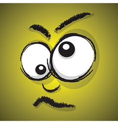 emotions yellow crazy vector image vector image