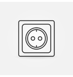 European electrical outlet vector image