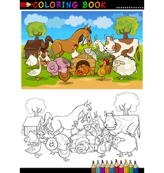 Farm and Livestock Animals for Coloring vector