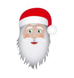 figure sticker face santa claus icon vector image