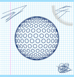golf line sketch icon isolated on white background vector image