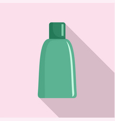green cosmetic bottle icon flat style vector image
