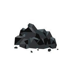 heap black natural coal mineral flat vector image