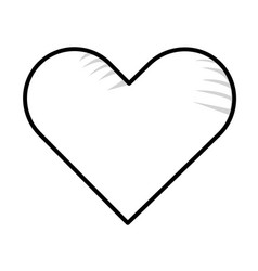 Heart isolated icon vector
