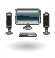 home cinema illustration vector image