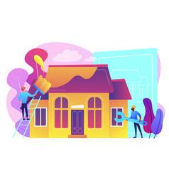 House renovation concept vector