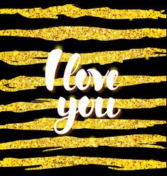 i love you card design vector image