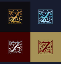 letter z decorative logo vector image