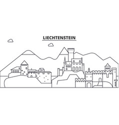 Liechtenstein architecture line skyline vector