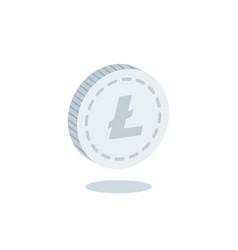 litecoin coin coin vector image