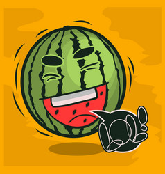 Lol lots laughs with laughing watermelon funny vector